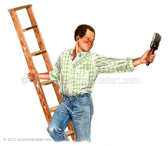 Man-on-ladder