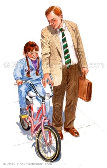 Girl-on-bicycle