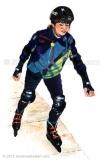 Girl-on-skates