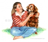 Girl-with-irish-setter